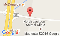 North Jackson Animal Clinic Location