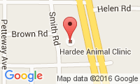 Hardee Animal Clinic Location