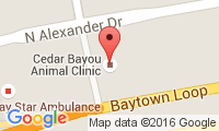 Cedar Bayou Animal Clinic Location
